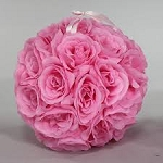 PINK Silk pomander flower ball